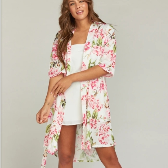 Show me your MUMU Brie Floral Print Robe O/S
